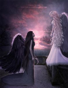 ✯   We will never be the same by jessica dueck..... I have black wings but I found some really cool black ones, white and red and thought about using them somehow