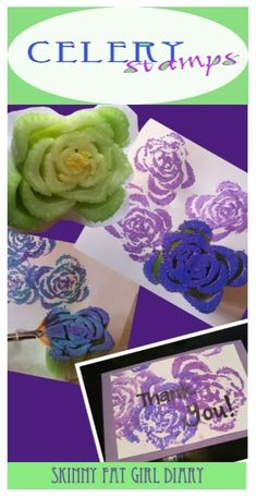 Play with your food! DIY - Celery Stamps!