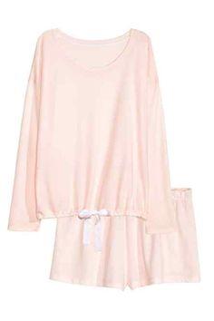 eff7138cf036 Pyjama avec short Vetement De Nuit Femme, Vêtements De Nuit, Deux Pièces,  Chemise