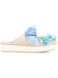 DELPOZO embellished mules. #delpozo #shoes #sandals