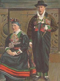 Midsommar folkdräkt Ångermanland 1920