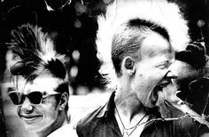 Soviet punks. USSR, early 1980s.