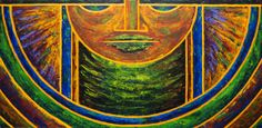 """Stained glass-inspired series of paintings. """"Something More 3"""""""