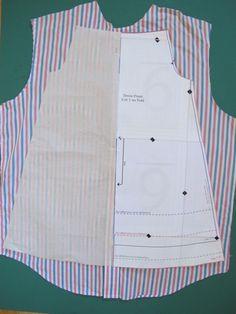 Man's Dress Shirt to Girl's Peasant Dress Upcycle Peasant Dress Patterns, Pillowcase Dress Pattern, Toddler Dress Patterns, Girl Dress Patterns, Toddler Girl Dresses, Peasant Dresses, Baby Dresses, Peasant Dress Tutorials, Toddler Girls