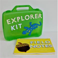 Explorer Kit and Field Notes craft project for kids.