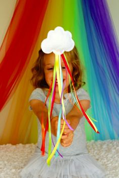 Rainbow Ribbon Wands - my little pony party favour? Festa Rainbow Dash, Rainbow Parties, Rainbow Birthday Party, Rainbow Theme, Birthday Parties, Kids Rainbow, Rainbow Ribbon, Rainbow Cloud, Rainbow Party Favors