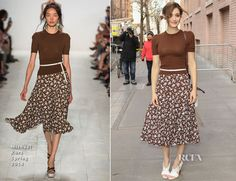 Emmy Rossum was spotted arriving for an appearance on The View on Thursday (March 19) in New York City, where the actress promoted her hit show 'Shameless'