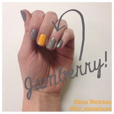 @the_emmalouise Nail Details Playing with accent nails & Jamberry!