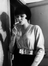 Shemale with cigarette holder