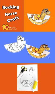 ✔ Art For Kids Easy Christmas Horse Crafts Kids, Hand Crafts For Kids, Halloween Crafts For Kids, Animal Crafts, Crafts To Do, Art For Kids, Paper Folding Crafts, Paper Crafts, Book Maker