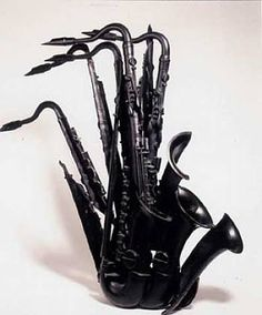 Saxophone sculpture