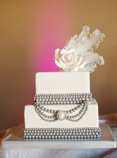 Bridal Shower cake {credit: StudioWed Nashville} #weddings