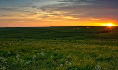 Kansas Sunset over the Flint Hills