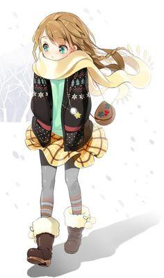 So cute anime girl!