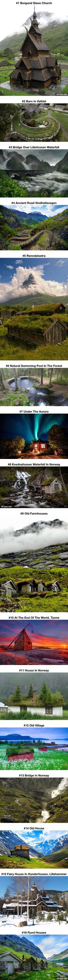 Beautiful Fairy Tale Architecture From Norway. These places seem so cool to go to Beautiful Fairy Tale Architecture From Norway. These places seem so cool to go to Places Around The World, Oh The Places You'll Go, Places To Travel, Places To Visit, Nature Architecture, Beautiful Architecture, House Architecture, Bridges Architecture, Architecture Memes