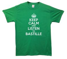 Keep Calm and listen to Bastille T Shirt Musician Music Popular Artist tee tshirt jersey top on Etsy, $20.50