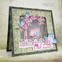 Card made with the Sugar Hollow Collection from Heartfelt Creations. Made by Liz Walker