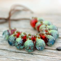 Sea+Drops+n.2+10+beads+by+Meital+on+Etsy,+$35.00