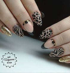 40 Unique Matte Nail Ideas to Makeup Your Short Or Long Nails Page 40 of 40 Latest Fashion Trends For Woman Hair And Nails, My Nails, Nailart, Nail Designer, Leopard Nails, Stylish Nails, Cute Nail Designs, Perfect Nails, Matte Nails