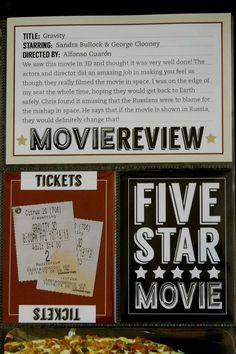 printables for movie review and ticket stubs | September Blue