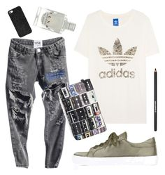 """Untitled #1351"" by moria801 ❤ liked on Polyvore featuring adidas Originals, Topshop, Zara Terez, Lancôme and BaubleBar"