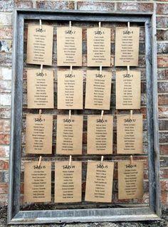 Rustic Wedding Decor Wedding Table Card Holder Barnwood Frame Seating Chart Frame Table Number Holder Rustic Table Cards 24 x 36 Wedding Seating Cards, Rustic Wedding Seating, Card Table Wedding, Wedding Table Numbers, Decor Wedding, Wedding Decorations, Wedding Favors, Wedding Ideas, Card Holder Wedding