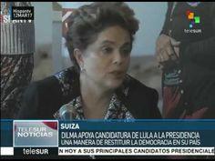 Presidenta de Brasil Dilma Rousseff apoya la candidatura de Lula