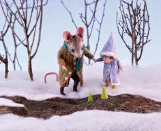 MousesHouses: signs of spring Felt Mouse, Baby Mouse, Cute Mouse, Needle Felted Animals, Felt Animals, Needle Felting, Maus Illustration, A Cinderella Story, Artist