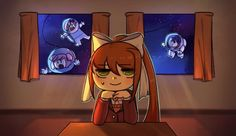 """I didn't make this but its hyper cute. She's like """"Ehehe, I totally deleted them..."""""""