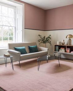 Excellent Snap Shots pink Carpet Living Room Style Develop you want the products we recommend. Just so you're aware, Freshome may collect a share of Living Room Carpet, Bedroom Carpet, Half Painted Walls, Pink Carpet, Flower Carpet, Brown Carpet, Carpet Colors, Textured Carpet, Farrow Ball