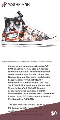 47077af9e4b3 Limited edition DC Comics Converse THE JOKER Converse All Star Chuck Taylor Limited  Edition 2014 Size 11 The Joker Excellent condition.