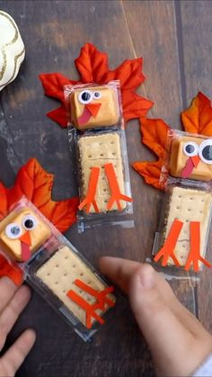Turkey Cracker Snack Treats for Thanksgiving for Kids