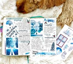 "1,481 Likes, 23 Comments - Jenny (@jennyjournals) on Instagram: ""Spread from my first week of December ❄️ wish I had more room to put more of my new Blue winter…"""