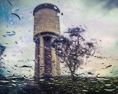 #drops #rain #tree #tower #artphotography #lookthroughthewindow
