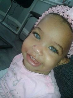 Beautiful baby girl with amazing eyes