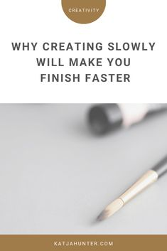 Going slow and steady when you do creative work will often make you finish faster because you don't get burned out in the process and quit. Small Business Organization, Organization Ideas, Negative Self Talk, Self Compassion, Creative People, Self Development, Something To Do, How Are You Feeling, It Is Finished