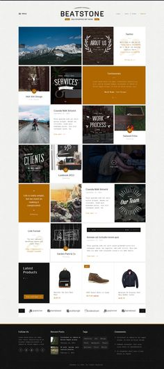 BeatStone is an up-to-date WordPress Theme in awesome vintage style for Portfolio, Art Blog, Creative Magazine & so on.