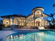 Big Beautiful Mansions With Pools big houses with pools | this large pool house has a large covered
