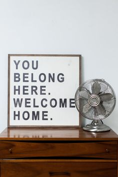 You Belong Here, Welcome Home- framed wood sign for home decor Love Wooden Sign, Wooden Signs, Wood Signs For Home, Home Signs, You And Me Sign, Welcome Home, Hand Painted Signs, Sweet Home, Gallery Wall