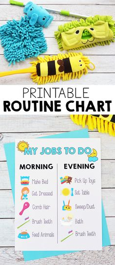 Printable Kids Morning and Evening Routine Chart - I Heart Arts n Crafts