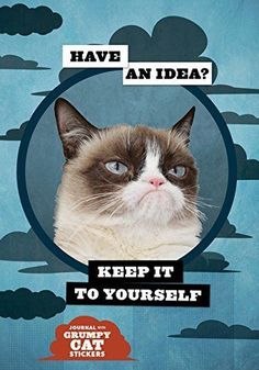 Grumpy Cat Flexi Journal with Stickers by Grumpy Cat
