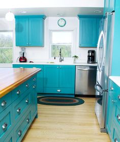 Country Kitchens To Love. Turquoise Kitchen CabinetsTeal ... Part 20
