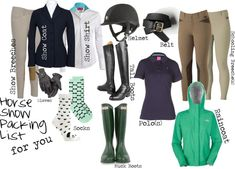 """Horse Show Packing List"" by high-standards on Polyvore"