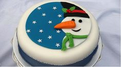 snowman cake icing from The Carzy Kitchen blog