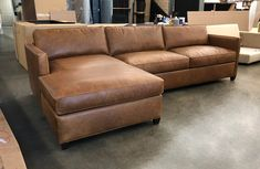 Italian Berkshire Chestnut is easily one the top leathers with customers here at LeatherGroups. Full Grain leather, with natural characteristics and markings intact, telling the true story of these European Bull Hides finished in Northern Italy. This customer's Arizona Leather Sofa Chaise Sectional was made with a small custom option...no tufting! Build yours: https://www.leathergroups.com/shop/Arizona-Leather-Sectional-Sofa-with-Chaise-Top-Grain-Aniline-Leather.html