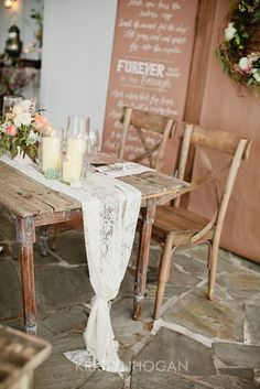 Wedding Inspirations | Lovely Lace | UBetts Rental & Design | Table Runner