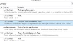 Make Your Outlook Inbox Easier to Browse with Better Line Separators
