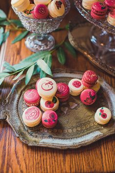 handpainted macarons   Sun & Sparrow Photography and Films   Glamour & Grace