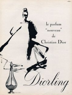 Christian Dior (Perfumes) 1963 Diorling, Gruau Dior Vintage, Perfumes Vintage, Vintage Beauty, Vintage Ads, Vintage Advertisements, Vintage Posters, Vintage Fashion, Vintage Glamour, Vintage Vibes