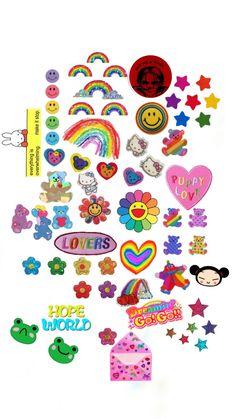 Printable Stickers, Cute Stickers, Carta Collage, Overlays, Kawai Japan, Indie Room, Aesthetic Indie, Indie Kids, Aesthetic Stickers